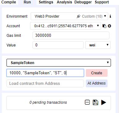 [Create]ボタン左の入力テキストに、状態変数の初期値を入力
